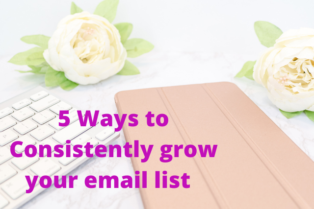 5 Ways to Consistently Grow your Email List